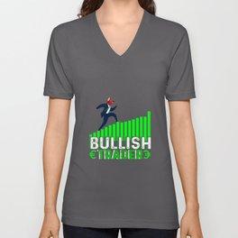 Bullish Trader Stock Forex Trader Fan Unisex V-Neck