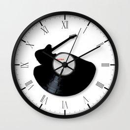 Rock Music Silhouette Record Wall Clock
