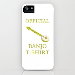 Awesome Banjo's Tshirt Design Official Banjo Tshirt iPhone Case