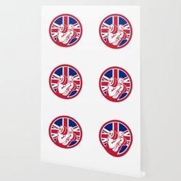 British Gym Circuit Union Jack Flag Icon Wallpaper