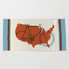 Bike America Beach Towel