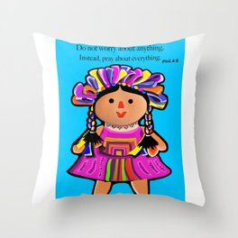 Phil.4:6 Do Not Worry Doll Throw Pillow