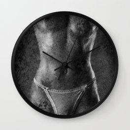 Nude with texture Wall Clock