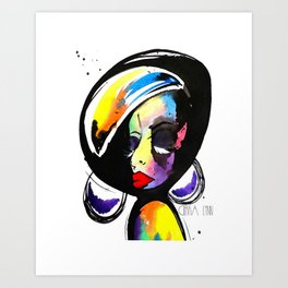 UNBOTHERED Art Print