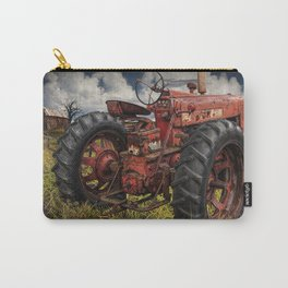 Abandoned Old Farmall Tractor in a Grassy Field on a Farm Carry-All Pouch
