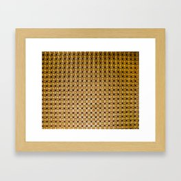 Gold and wood carving pattern Framed Art Print