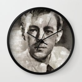 Alec Guinness by Mary Bassett Wall Clock
