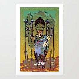 The Death Card Art Print