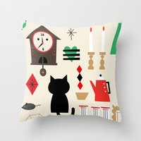 home sweet home Throw Pillows featuring Home by Charmy