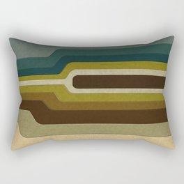 """Retro Lines"" Rectangular Pillow"
