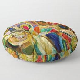 Marche au Minho (Market in Minho) by Sonia Delaunay Floor Pillow