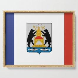 flag of Novogorod Oblast Serving Tray
