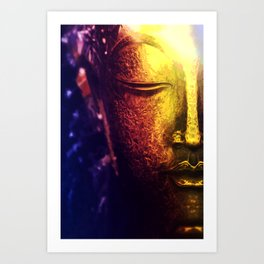 lord buddha face Art Print