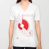 spider V-neck T-shirts featuring Spider by Hinterlund