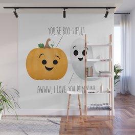 Boo-tiful Couple | Pumpkin & Ghost Wall Mural