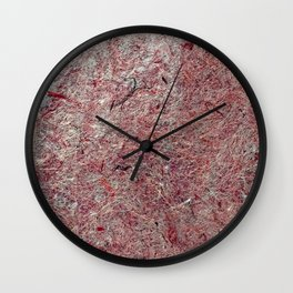 Japanese Handcrafted Dyed Paper Abstract Texture Wall Clock