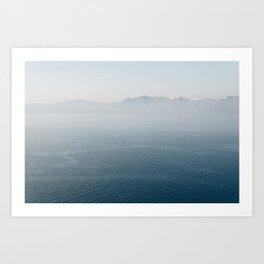 Santorini - Caldera II Art Print
