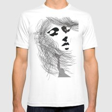 Breeze White MEDIUM Mens Fitted Tee