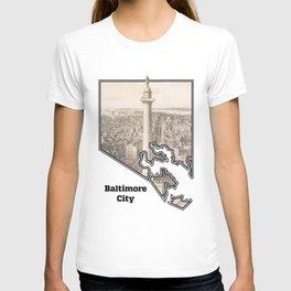 Washington Monument, Baltimore MD T-shirt
