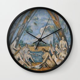 Camille Pissarro - Large Bathers Wall Clock