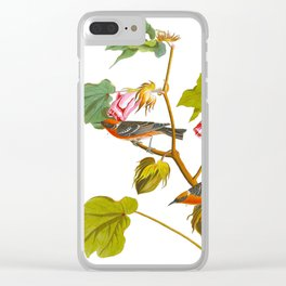 Bay-breasted Warbler Bird Clear iPhone Case
