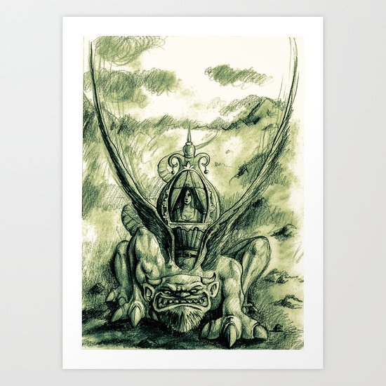 Primitive !! Art Print