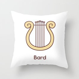 Cute Dungeons and Dragons Bard class Throw Pillow