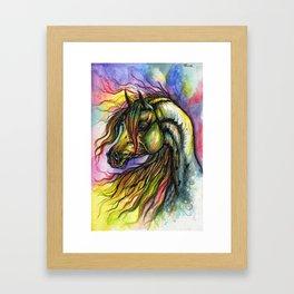 Rainbow horse Framed Art Print