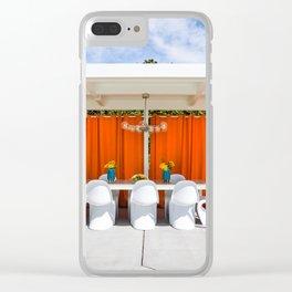 Orange Al Fresco Clear iPhone Case