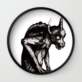 Black Gargoyle Wall Clock