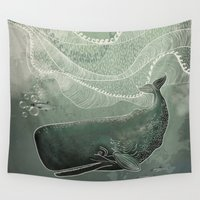 fairytale Wall Tapestries featuring Marine fairytale by Pencil Studio