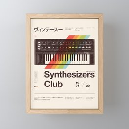 Synthesizers Club Framed Mini Art Print