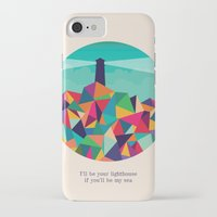 sayings iPhone & iPod Cases featuring I'll be your lighthouse if you'll be my sea by Picomodi