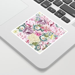 Vintage & Shabby chic -  Retro Spring Flower Pattern Sticker