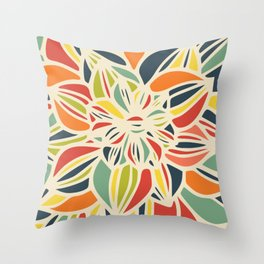Vintage flower close up Throw Pillow