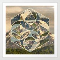 Geometric mountains 1 Art Print