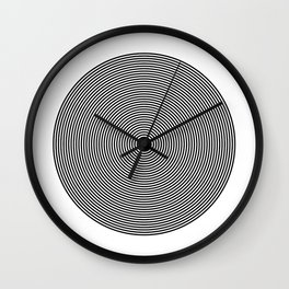 Hypnotic Circles optical illusion Wall Clock
