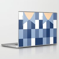 forrest gump Laptop & iPad Skins featuring Forrest Gump - Minimalist movie poster by Kate Syska Design