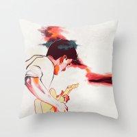 guitar Throw Pillows featuring Guitar by tidlin