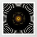 Modern Circular Abstract with Gold Mandala by artaddiction45