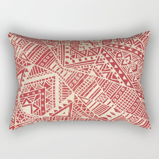 Tribal (red)  Rectangular Pillow