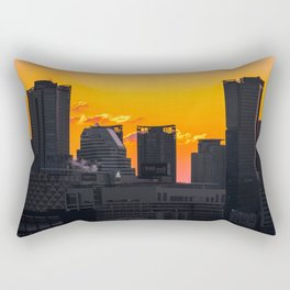 Sunset over Cityscape (Color) Rectangular Pillow