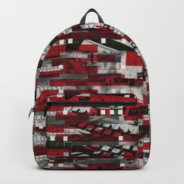 Nothing Is Accomplished (P/D3 Glitch Collage Studies) Backpack