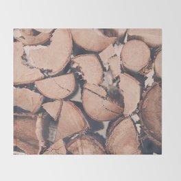 Wood Pile Throw Blanket