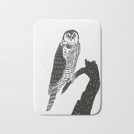 Hawk Owl Bath Mat