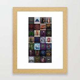 Superbet A-Z Framed Art Print