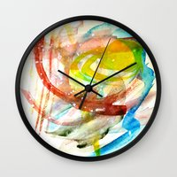 contact Wall Clocks featuring contact by Kay Weber