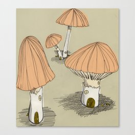 Mushroom Houses Canvas Print