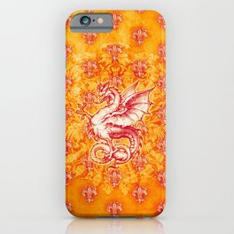 Noble House GINGER FIRE / Grungy heraldry design iPhone Case