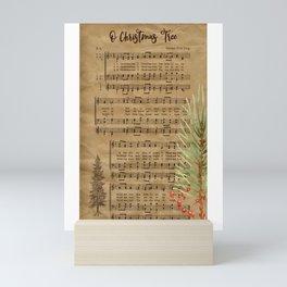 Vintage Christmas Music Neck Gator O Christmas Tree Mini Art Print